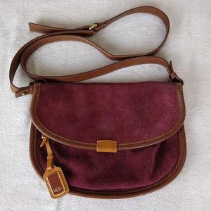 Ugg Suede Leather Saddle Crossbody Purse Handbag